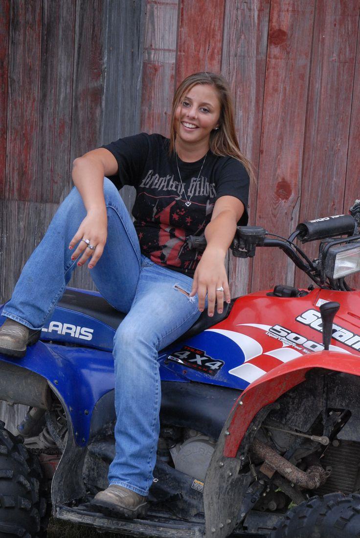 Senior Picture - on 4 wheeler