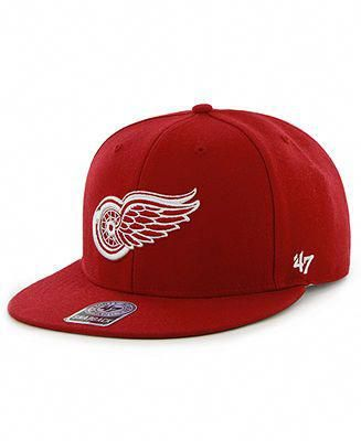 official photos dd3b3 467a4 47 Brand NHL Hockey Hat, Detroit Red Wings Big Shot Snapback Hat - Sports  Fan Shop - Men - Macy s  CoolHats