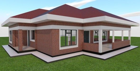 4 Bedroom House Plan Muthurwa Com Brick House Plans Bedroom House Plans Four Bedroom House Plans