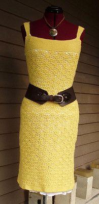 Платье крючком Rachel Bee Dress. Летнее платье простым узром  
