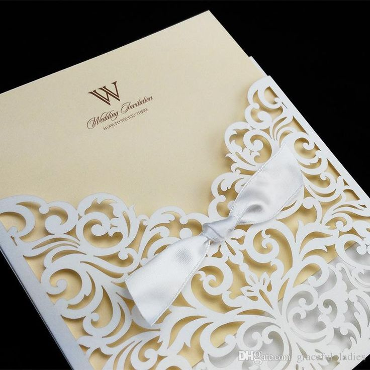 Invite your guests with wedding invitations ideas,wedding reception invitation wording and 30th birthday invitations on DHgate.com and graceful_ladies recommends  Ivory Cheap Laser Cut Wedding Invitation Packages 145*145mm Marriage Invitation Cards Envelope Hollow Out Design Wedding Invitations Online of high quality.