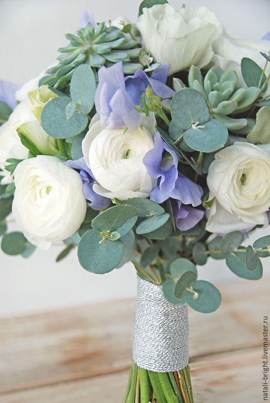Купить Букет невесты с анемонами и ранункулюсами - букет невесты, букет из живых цветов, букет для невесты