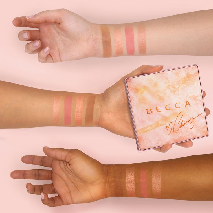 We want, no NEED, that summertime Chrissy Teigen #BECCAGlow! And now with the BECCA X Chrissy Teigen Glow Face Palette we can have it! Hand-picked by Chrissy, our #BECCAxCHRISSY Glow Face Palette contains the warm, sultry shades of highlighter, blush and bronzer needed to create a stunning summer glow on all skin tones!