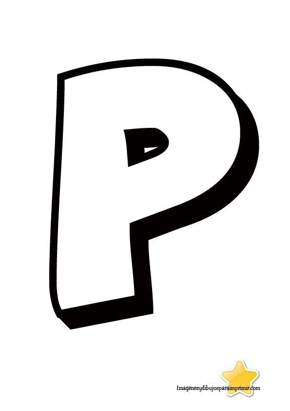 Letra P Para Imprimir Harfler Lettering Alphabet Y Ideas
