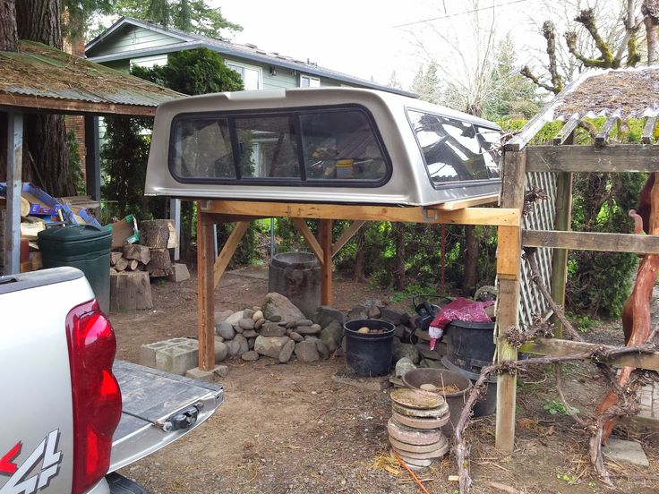 How to easily remove and store your truck canopy with only one person.