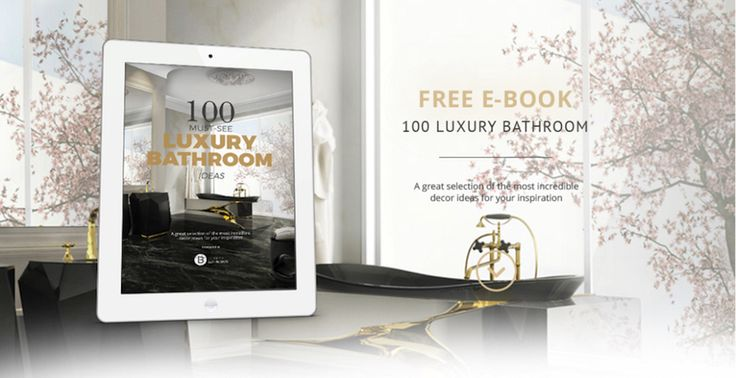 """If you are thinking about do a makeover into you bathroom ande are looking for the most amazing ideas to inspire you, the free eBook """"100 Must-See Luxury Bathroom Ideas"""" is just a perfect match. Page by page, this eBook created by Luxury Bathrooms Blog certainly will be helpful for your next home decor. Download it and get inspired right now! ➤To see more Luxury Bathroom ideas visit us at www.luxurybathrooms.eu #luxurybathrooms #homedecorideas #bathroomideas @BathroomsLuxury"""