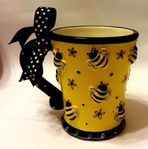Bumble Bee Bug Gardening Burton And 3D Relief Coffee Tea Mug Cup