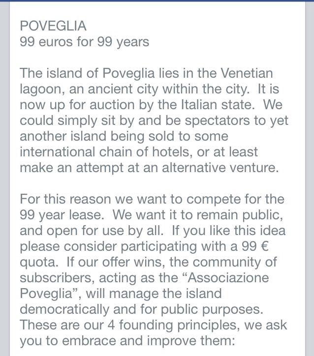 Poveglia island project!! SIgn in!!!