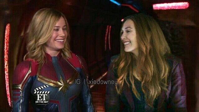 Wanda Maximoff Carol Danvers Scarlet Witch Captain Marvel Elizabeth Olsen Brie Larson Famosos Capitan Marvel Marvel