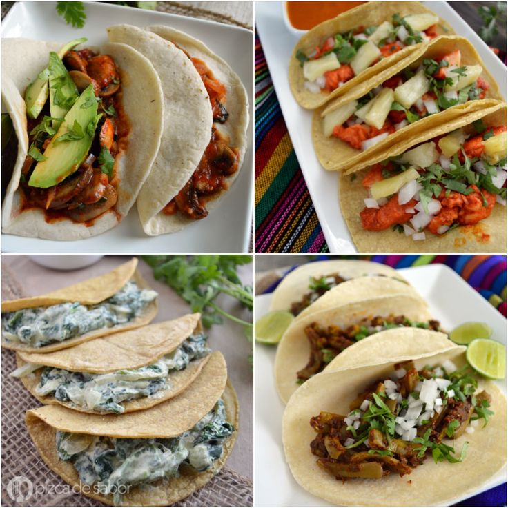 Más de 15 recetas de tacos. Deliciosas, fáciles de preparar y hasta saludables. Quien dijo que los tacos no pueden ser sanos.