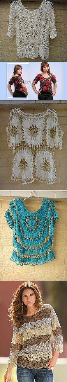 Нарядные блузы, связанные на вилке — Рукоделие