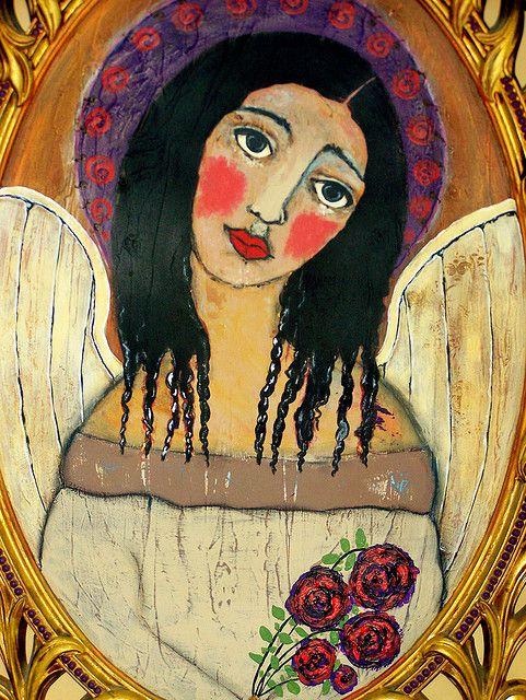Mexican folk art angel by thebrokencrow, via Flickr