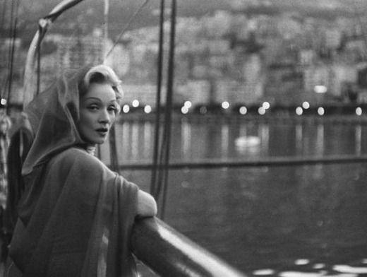 Mario de Biasi: Marlene Dietrich (Montecarlo 1956)
