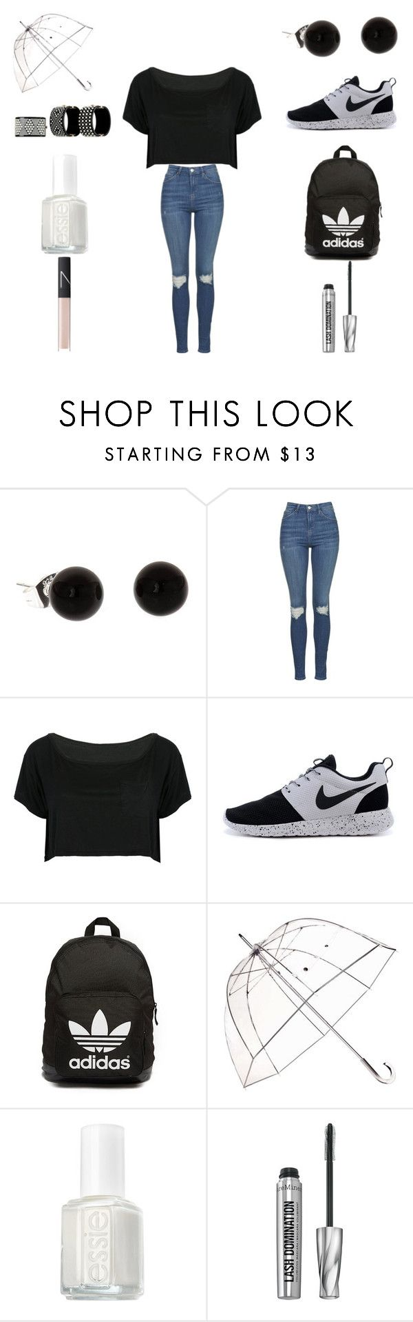 """""""The Beach"""" by kiraissocool on Polyvore featuring Topshop, WithChic, adidas Originals, Totes, Chanel, Essie, Bare Escentuals and NARS Cosmetics"""