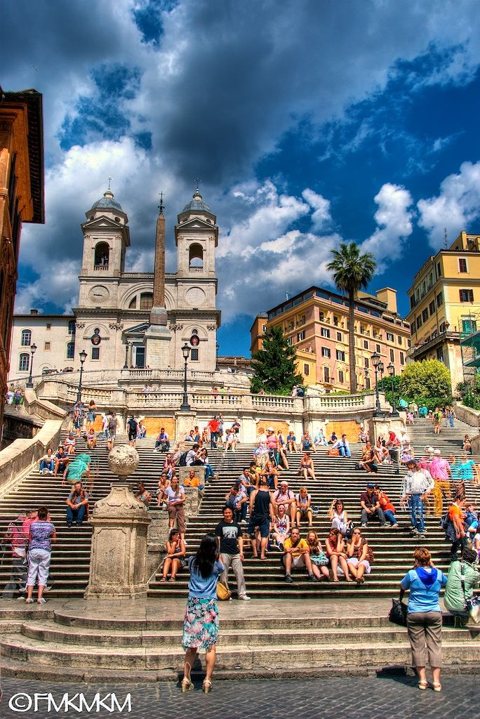 The Spanish Steps, Rome, Italy. We had such a wonderful and romantic night when we were there back in '08. Will never forget it.