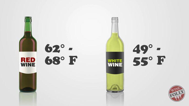 white wine temperature red wine temperature
