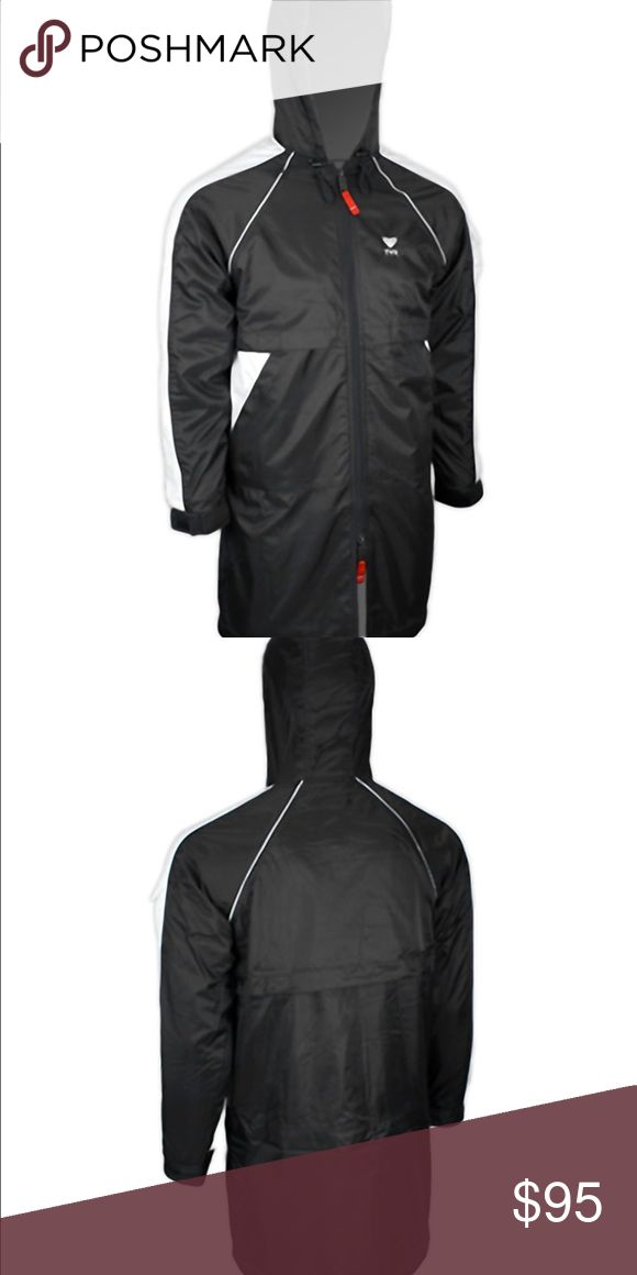 TYR Alliance Team Parka (NWOT)** price is firm ** Taken out of packaging but too large for me. NWOT Designed for the aquatic athlete & It is ideal for cold weather and prevents wind and moisture penetration. • 100% Polyester shell • 100% Polyester Microfleece lining • Raglan sleeves for comfortable fit and freedom of movement • Slimmer fitting than other traditional parka styles • Exterior microfleece lined side zipper pockets • Interior microfleece-lined zipper pocket with head phone…