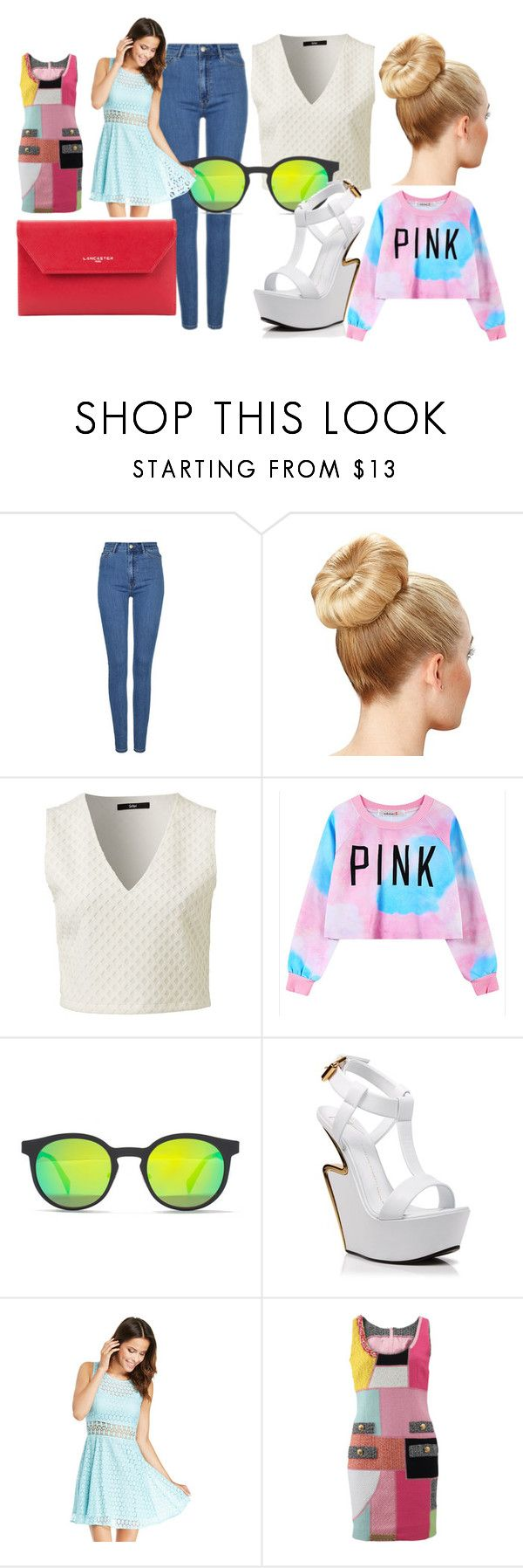 """jn"" by rismasansella on Polyvore featuring Chicnova Fashion, Italia Independent, Giuseppe Zanotti, DailyLook, Moschino, Lancaster, women's clothing, women, female and woman"