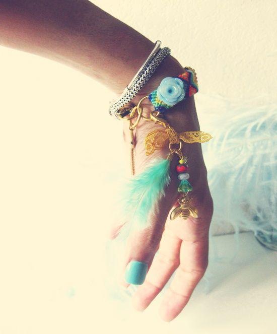 bracelets and nail polish