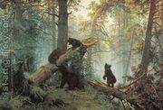 Morning in the Pine-tree Forest  by Ivan Shishkin