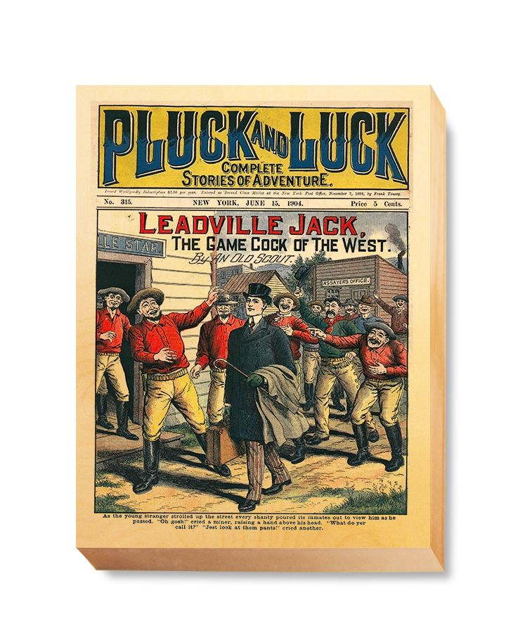 WES 016 Western Comic Pluck Luck