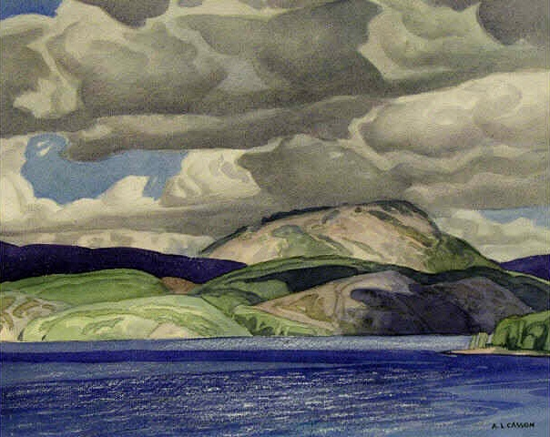 A.J. Casson, Lake Mazinaw, 1952 10.75x13.5 inches