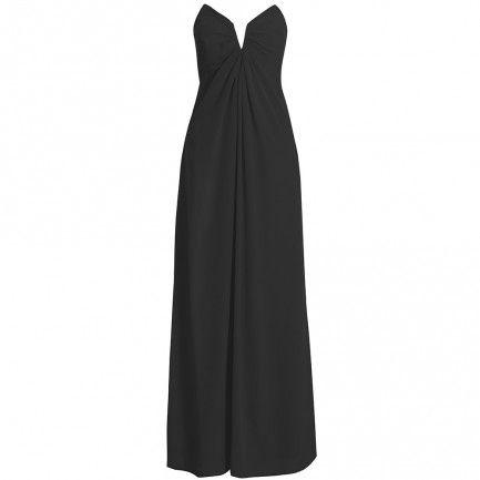 Silk V Long Dress