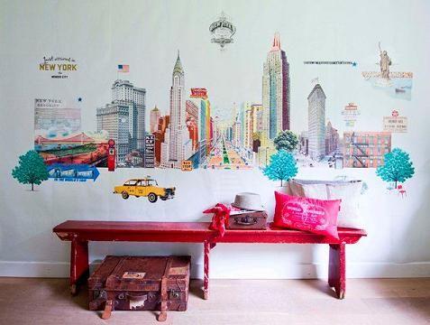 Murales estilo vintage de room seven coordonn murales - Habitaciones vintage juveniles ...