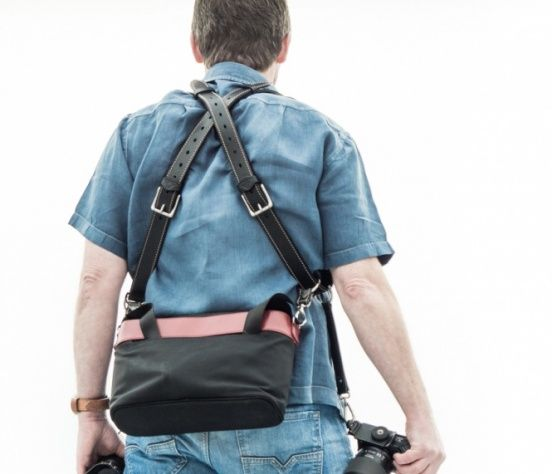 "The 4"" side straps can be used to attach your all important bag to the main straps."