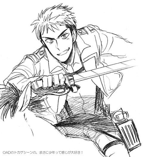 1000 images about jean kirschtein attack on titan on for Attack on titan coloring pages
