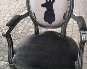 fauteuils cabriolet louis XVI tete de cerf : Meubles et rangements par fabienne-karjavy