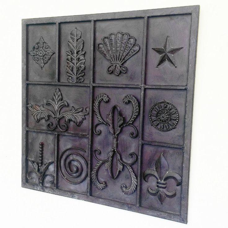 Home Garden Wrought Iron Metal Art Wall Sculpture indoor outdoor Decor 61cm