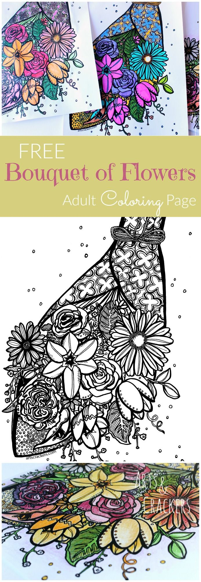 Coloring book michaels - Free Bouquet Adult Coloring Page
