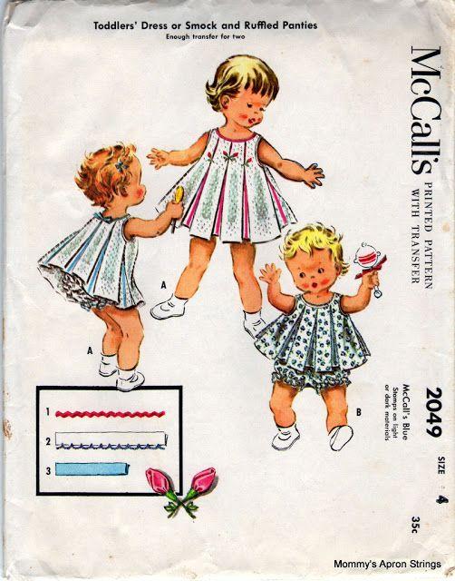 Vintage Pattern Love: McCall's Girl's Dresses