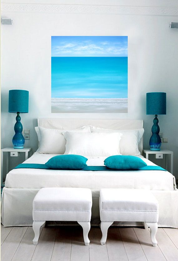 seascape beach painting modern ocean by chrismaestrigallery - Colors Of Bedrooms