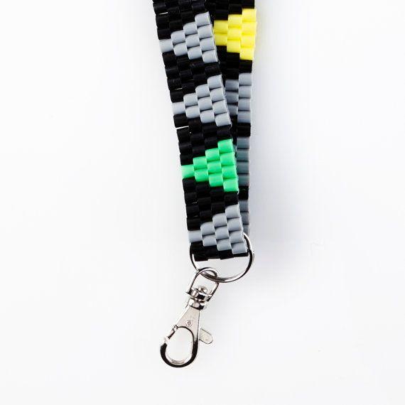 Keychain hama beads by VingborgDesign