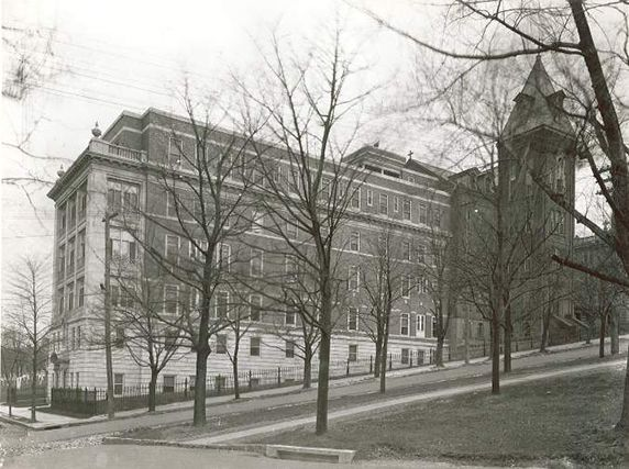 Photograph of St. Joseph's Hospital.  My mother was born here.