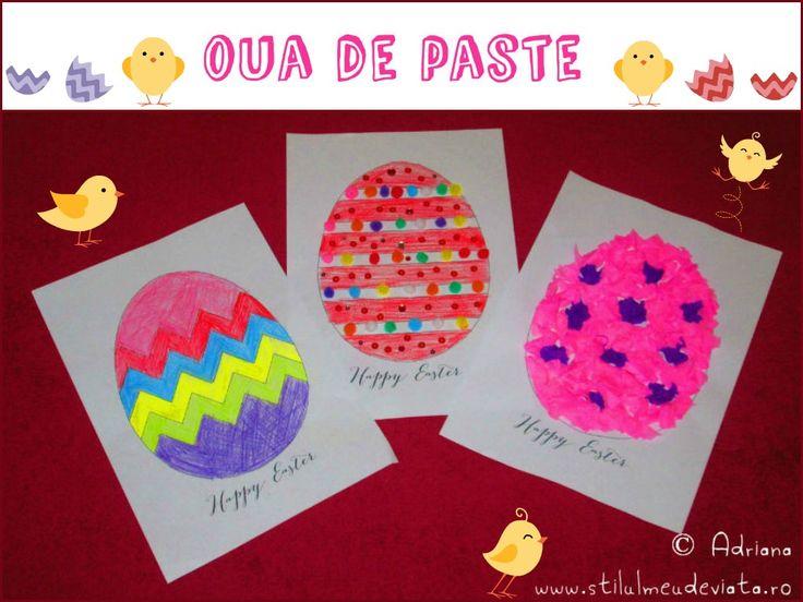 oua de paste, craft pentru copii