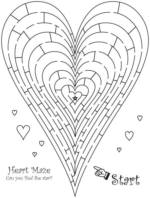 llaurra heart maze for kid reception activity book weddingbee - Kids Wedding Coloring Book