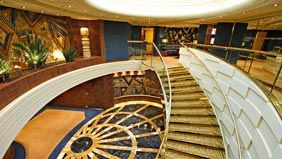 MSC Yacht Club private two-story lounge with Swarovski crystal studded staircase.: Crui Experiencelik, Yachts Club, Msc Cruises, Ultimate Crui, Yacht Club, Mscyachtclub Gorgeous, Luxury Cruises, Crui Experiments, Msc Yachts