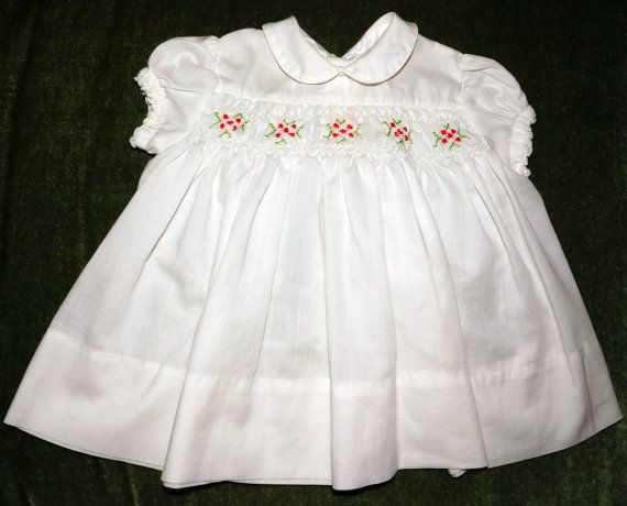 1960s Polly Flinders Smocked Dress Infant by GrandFunkeVintage