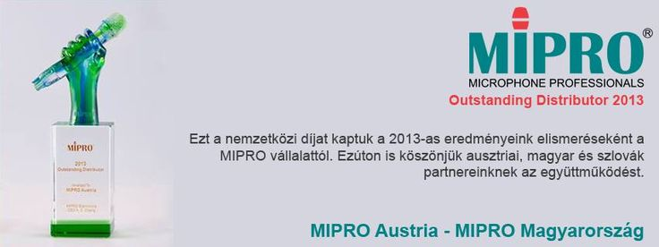 MIPRO Hungary Facebook Cover - Outstanding Distributor of the Year 2014