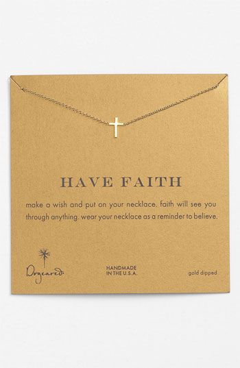 Dogeared 'Reminder - Faith' Boxed Pendant Necklace available at #Nordstrom