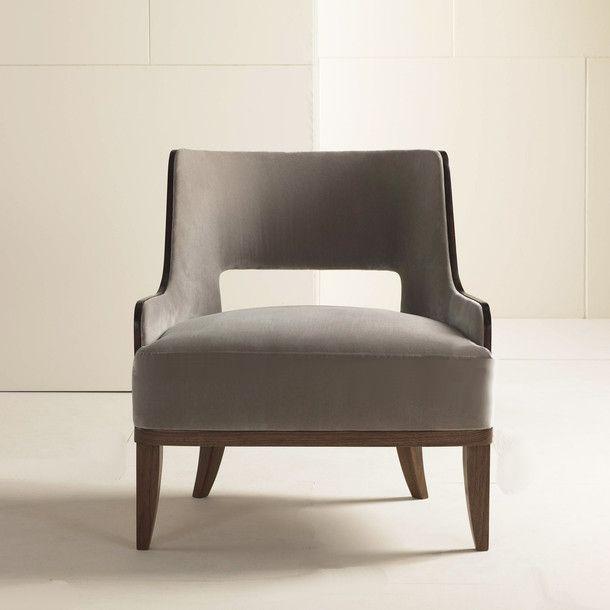 Salon Lounge Chair Nutmeg Birch by Barbara Barry