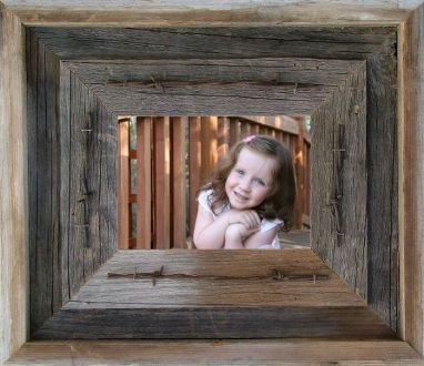 "Need to make a WOW statement. Here it is. Our 4"" wide Laramie Western Picture Frame uses 3 pieces of carefully chosen weathered Barnwood and takes Rustic Picture Frames to a whole new level. Frame is"
