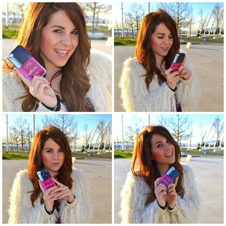 Greek fashion blogger Daphnia Neofytou from LifeReport with Le Vernis iPhone case