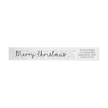 Merry Christmas Snowflake wraparound label - merry christmas diy xmas present gift idea family holidays