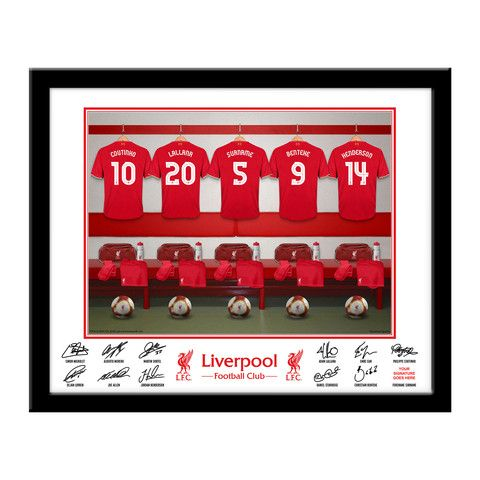 Personalised Liverpool FC Gifts - Personalised Liverpool FC Dressing Room Frame