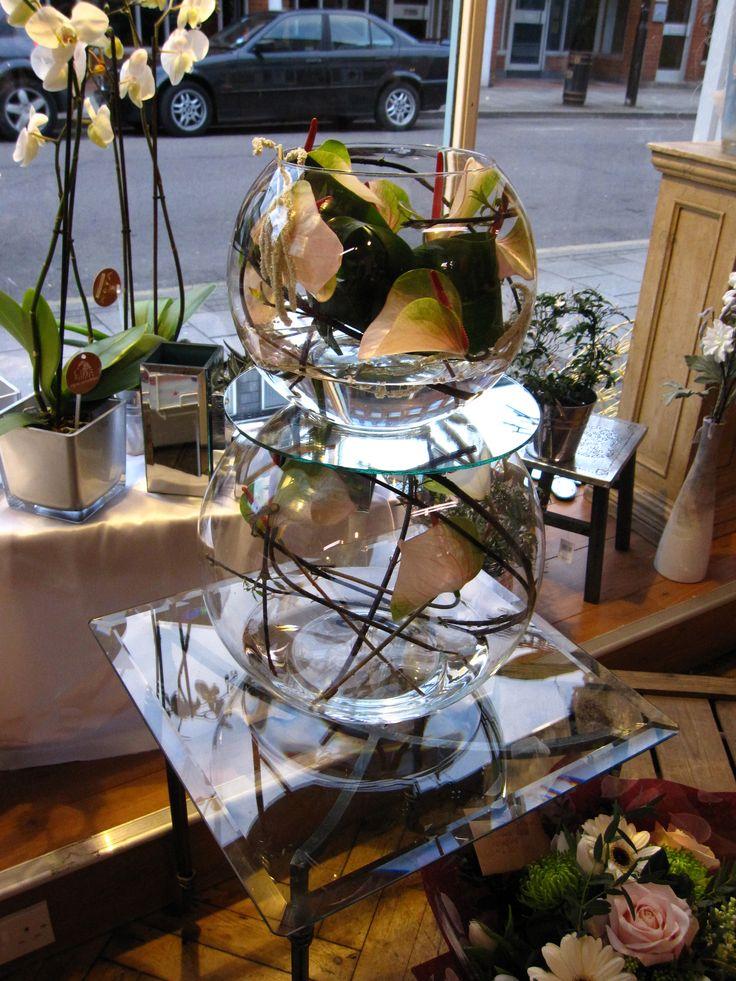 Floral art sculpture