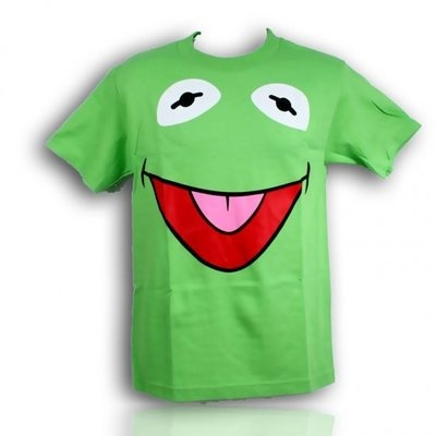 Mens Funny Kermit The Frog The Muppets Show adult face T-shirt New  S M L XL 2XL